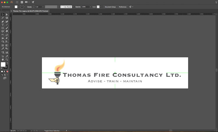 image showing screen shot of Thomas Fire Ltd logo design